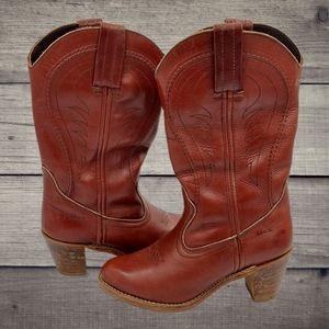🔥VTG 70's Leather Dex Cowboy Boots🔥